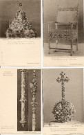 4 Cartes, Tsar Michel Feodorovitch, Trône, Sceptre, Couronne, Globe (croix Rouge) - Russie