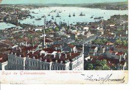 Turkey Salut De Constantinople Vue Generale Du Bosphore 1912 (vers Namur épicier Au Moulin A Vent - Turquia