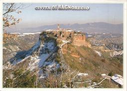 Civita Di Bagnoregio En Hiver ,le Plus Beau Village D'Italie, Carte Postale Adressée ANDORRA, Avec Timbre à Date Arrivée - Viterbo