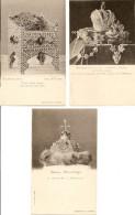 """3 Cartes, Tsar Boris (trône), La Couronne Du """"Monomaque"""", Insignes Impériales Palais D'hiver St Petersbourg(croix Rouge) - Russie"""
