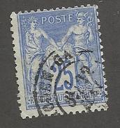 FRANCE - N°YT 78 OBLITERE AVEC CAD GARE DE CAEN ET VARIETE DE PIQUAGE SUR FILET NORD - COTE YT : 2€ - 1876