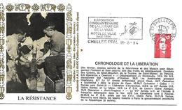 77  CHELLES  Exposition Du Cinquantenaire  De La Libération De La Ville  Hotel De Ville Aout 1994  19/08/94&