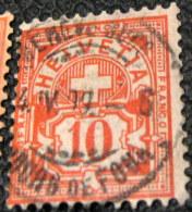 Switzerland 1882 Cross & Shield 10c - Used