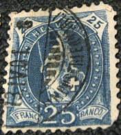 Switzerland 1899 Helvetia 25c - Used