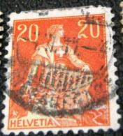 Switzerland 1908 Helvetia 20c - Used