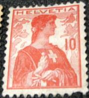 Switzerland 1909 Helvetia 10c - Used