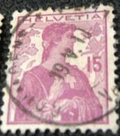 Switzerland 1909 Helvetia 15c - Used