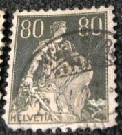 Switzerland 1915 Helvetia 80c - Used