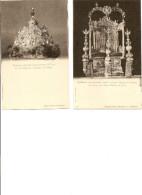 2 Cartes, Le Trône Des Tsars Pierre Et Jean, La Couronne Du Royaume De Kazan (croix Rouge) - Russie