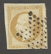FRANCE - N°YT 13A OBLITERE AVEC ETOILE DE PARIS ET TEINTE A ETUDIER - COTE YT : 15€ - 1853