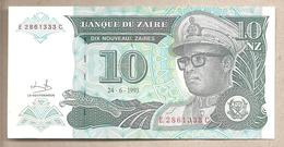 Zaire - Banconota Non Circolata FdS Da 10 Nuovi Zaire - 1993 - Zaire