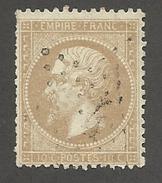 FRANCE - N°YT 21 OBLITERE ETOILE DE PARIS 4 - COTE YT : 10€ - 1862