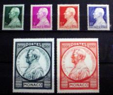 MONACO # 192-197.   Prince Louis II, Complete Set Of Six. MNH(**)