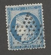 FRANCE - N°YT 60c OBLITERE B MASQUE ETOILE DE PARIS ET VARIETE FILET NORD - COTE YT : 2€ - 1874