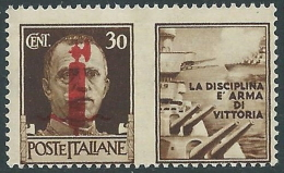 1944 RSI PROPAGANDA DI GUERRA 30 CENT MNH ** - CZ39-7 - Propaganda Di Guerra