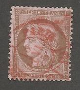 FRANCE - N°YT 58 OBLITERE CAD ROUGE DU 18/01/1875 - COTE YT : 22€ -