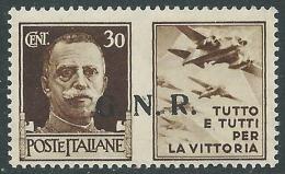 1944 RSI PROPAGANDA DI GUERRA GNR BRESCIA II TIPO 30 CENT MNH ** - CZ18-2 - 4. 1944-45 Repubblica Sociale