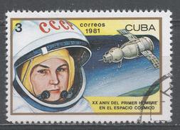 Cuba 1981. Scott #2401 (U) Valentina Tereshkova, 1st Woman In Space And Vostok 6 * - Cuba