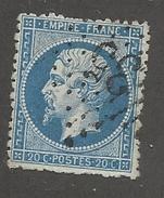FRANCE - N°YT 22 OBLITERE - COTE YT : 1€ - 1862