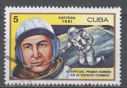 Cuba 1981. Scott #2402 (U) Aleksei A. Leonov, 1st Man To Walk In Space * - Cuba