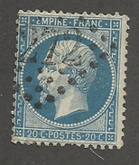 FRANCE - N°YT 22 OBLITERE GC 272? VARIETE FILET SUD ET PIQUAGE OUEST - COTE YT : 1€ - 1862