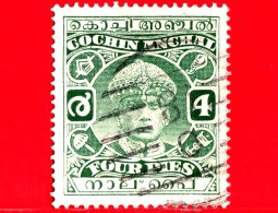 India - Cochin Anchal - Usato - 1933-38 - Maharaja Sri Rama Varma III - 4 - Cochin