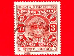 India - Cochin Anchal - Usato - 1938 - Maharaja Sri Rama Varma III - 3 - Cochin