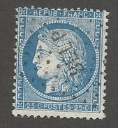FRANCE - N°YT 60A OBLITERE AMBULANT BEL P ET VARIETE DE PIQUAGE SUR FILET NORD - COTE YT : 2€ - 1871