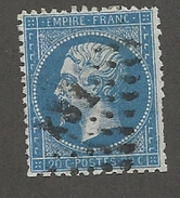 FRANCE - N°YT 22 OBLITERE AMBULANT KS1 - COTE YT : 1€ - 1862