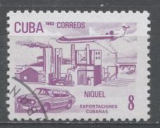 Cuba 1982. Scott #2488 (U) Exports: Nickel (Passanger Jet, Industrial Complex Car) * - Cuba