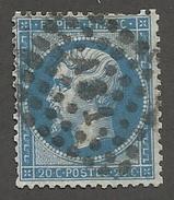 FRANCE - N°YT 22 OBLITERE AMBULANT AS1 - COTE YT : 1€ - 1862