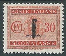 1944 RSI SEGNATASSE FASCETTO 30 CENT MH * - CZ37-10 - 4. 1944-45 Social Republic