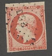 FRANCE - N°YT 16 OBLITERE AMBULANT DS3? - COTE YT : 20€ - 1853