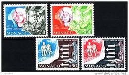 Monaco 1973 MiNr. 1087/ 1088 , 1107/ 1108  ** / Mnh   Kampf Dem Drogenmißbrauch