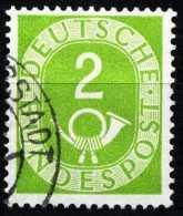 BRD - Michel 123 - OO Gestempelt (A) - 2Pf Posthorn - Gebruikt