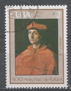 Cuba 1983. Scott #2608 (U) The Cardinal, By Raphael, 500th Birth Anniv. * - Cuba