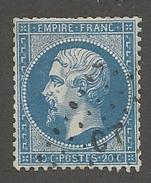 FRANCE - N°YT 22 OBLITERE AMBULANT CT - COTE YT : 1€ - 1862