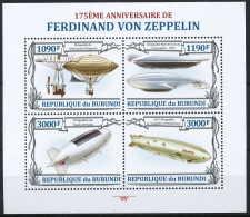 D- BURUNDI 2013 - 175eme Anniversaire De Ferdinand Von Zeppelin