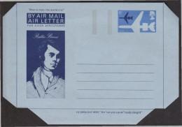 UK 1966 Poet Robert Burns Poetry Ethnography Culture Arts Wildlife Rodent Folklore Aerogramme With Imprinted 6p Stamp** - Interi Postali