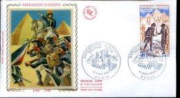 FDC Expédition D'Egypte - Paris 11 Novembre 1972 - FDC