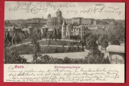 FIQ-18  Bern Parlamentsgebäude, In Relief, Von Geprägtem Papier,gaufré. Pionier. Gelaufen In 1902 - BE Berne