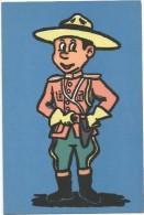T41 Cartolina In Materiale Speciale - Disegno In Fibra Di Tessuto - Guardia Canadese / Non Viaggiata - Cartoline