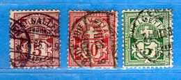 SUISSE°-1894-1899 - ZUM.60B-61B-65B  / MI.52Y-54Y-53Y. .  2 Scan. Cat. Zum. 2016  CHF.3,00.    Vedi Descrizione