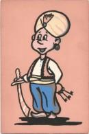 T44 Cartolina In Materiale Speciale - Disegno In Fibra Di Tessuto - Maraja / Non Viaggiata - Cartoline