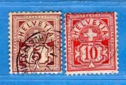 SUISSE°-1894-1899 - ZUM.60B-61B  / MI.52Y-54Y .  2 Scan. Cat. Zum. 2016  CHF.2,00.    Vedi Descrizione