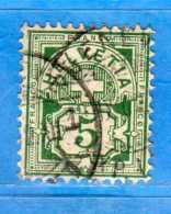 SUISSE°-1894-1899 - ZUM.65B  / MI.53Y .  2 Scan. Cat. Zum. 2016  CHF.1,00.    Vedi Descrizione