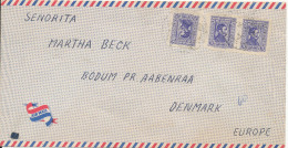 Uruguay Air Mail Cover Sent To Denmark From M/S Jessie Maersk - Uruguay