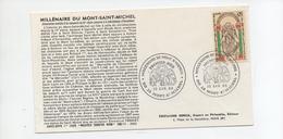 FDC France Millenaire Du Mont St Michel  (50) Mont St Michel  30/4/1966 YT 1482 - FDC