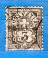 SUISSE°-1894-1899 - ZUM.59B  / MI.51Y .  2 Scan. Cat. Zum. 2016  CHF.20,00.    Vedi Descrizione