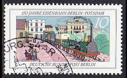 !b! BERLIN 1988 Mi.822 USED SINGLE (b) - Berlin-Potsdam Railroad - Berlin (West)